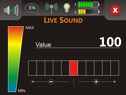 The operating mode 'Live Sound', which uses the VLF metal detector   option to scan for metal objects like gold and silver.
