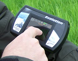 Control unit of Evolution with full color touch-screen.